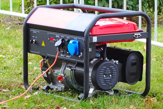 Portable Generator on Lawn