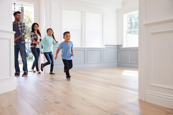 Family Touring a Home