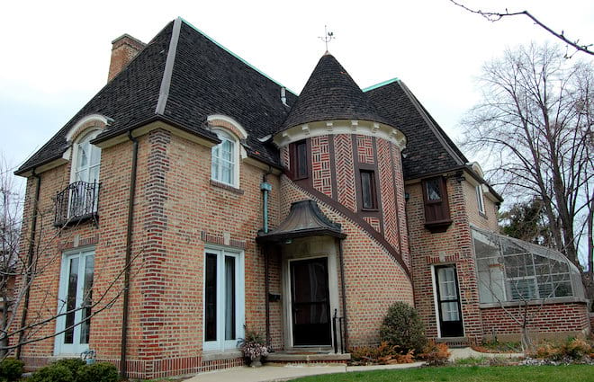 Brick French Eclectic House