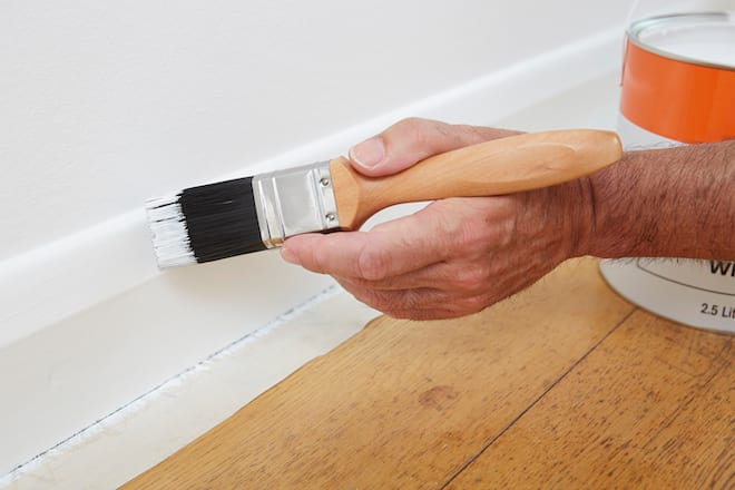 Painting a Baseboard