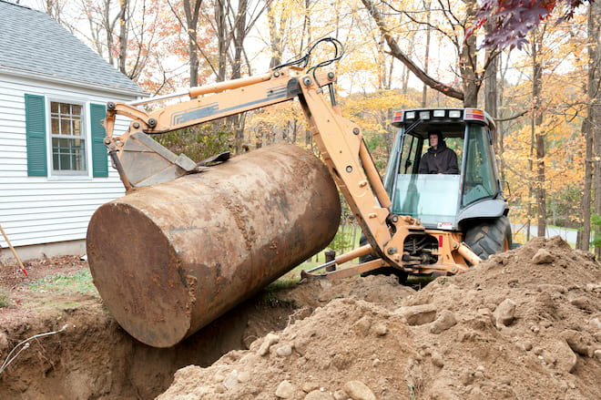 Removing a Residential Underground Oil Tank