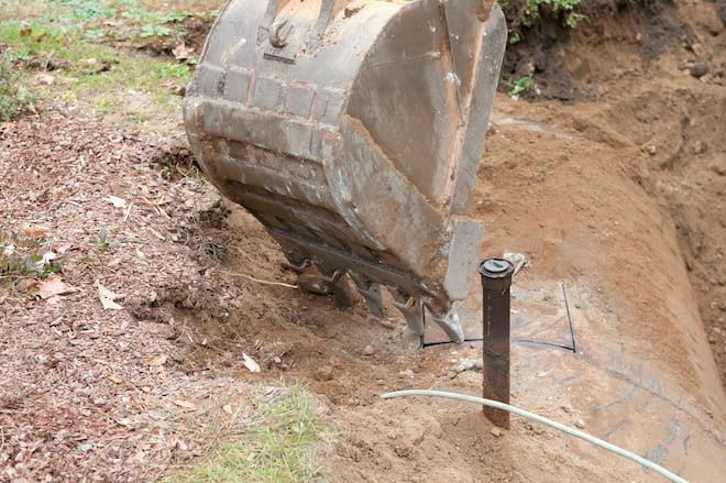 Uncovering an Old Underground Oil Tank