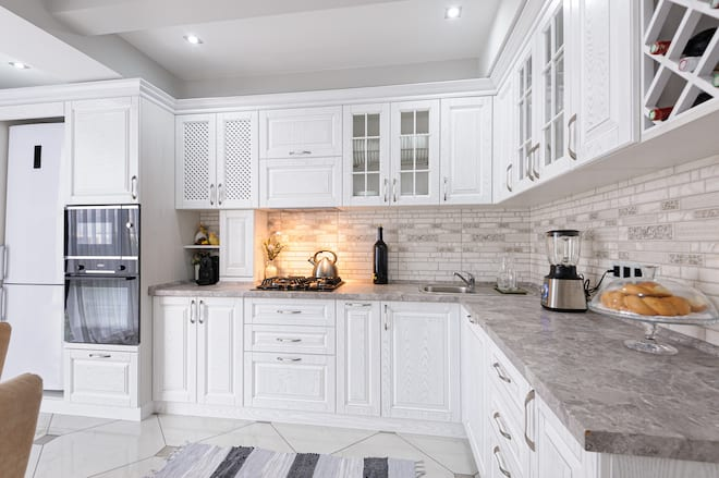 High End Cabinets in Luxury Kitchen